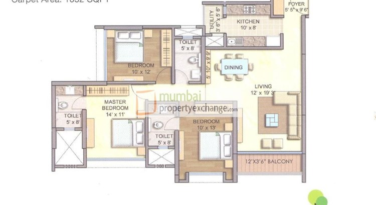 Runwal Greens Ebony Floor Plan