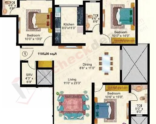 Maitri Park floor plan 2