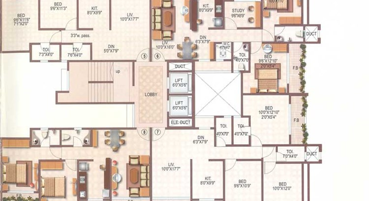 Shatrunjay Height Floor Plan