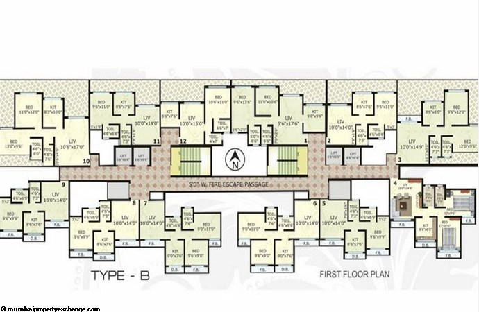 Cosmos Legend Type B 1st Floor Plan