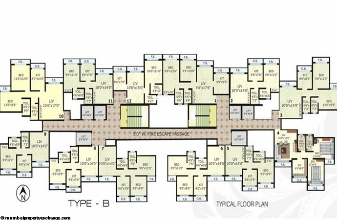 Cosmos Legend Type B Typical Floor Plan