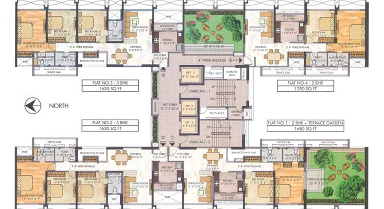 Tropical Lagoon Dahlia Floor Plan