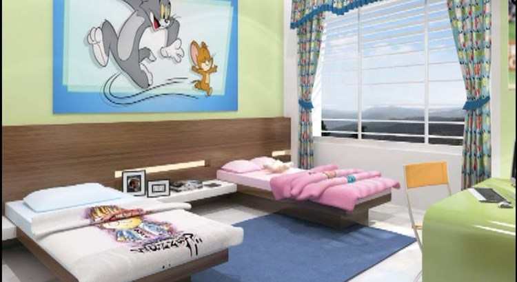 Tropical Lagoon Hibiscus Childrens Room