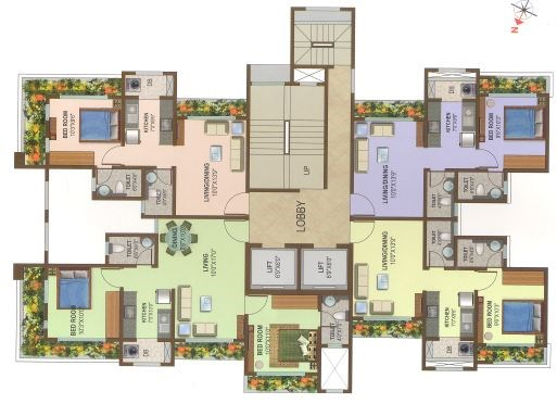 Om Sai Tower floor plan