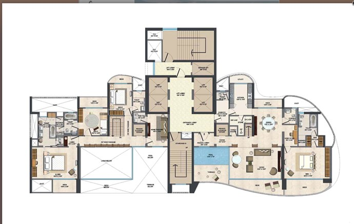 Duplex Upper Floor Plan