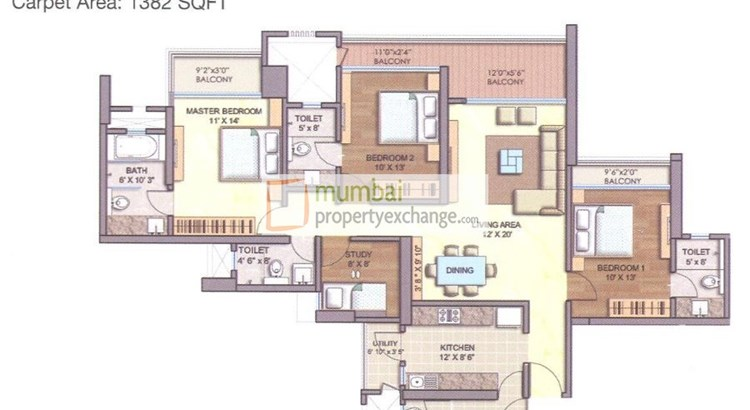 Runwal Greens Cedar Floor Plan