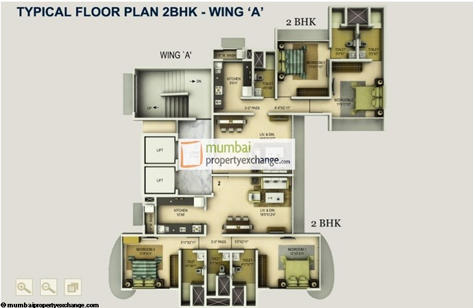 Joy Alka 2 BHK Floor Plan