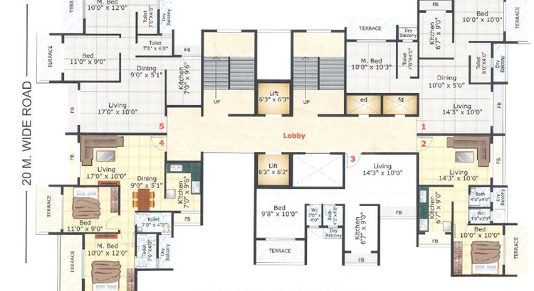 Anchit Towers Floor Plan