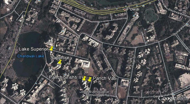 Panch Vati Google Earth