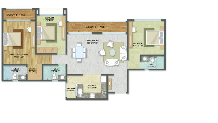 India Bulls Golf City Floor Plan
