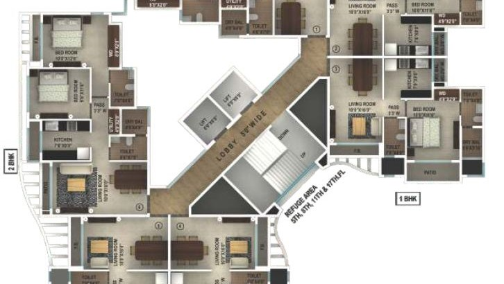 Ruby Yogi Dham Phase 3 Floor Plan