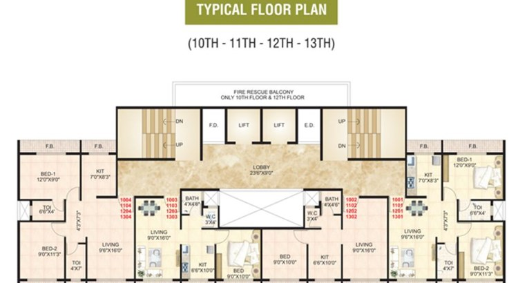 GoodLuck Heights Floor Plan