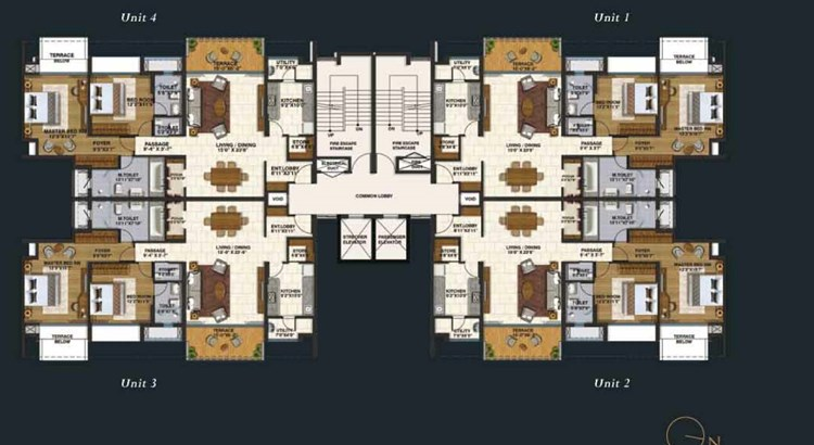 Lodha Belmondo 2 BHk Large Floor Plan