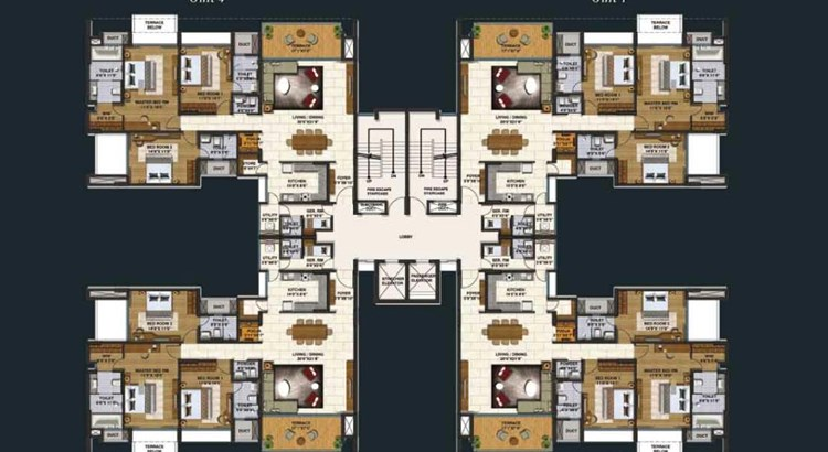 Lodha Belmondo 3 BHK Large Floor Plan