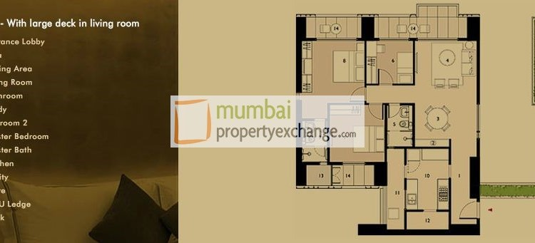 Lodha Elisium  3BHK luxe large Living Room