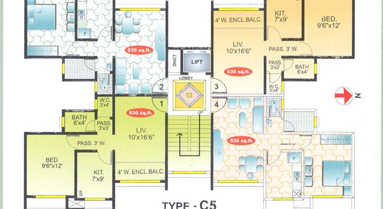 Lok Surbhi Typical Floor Plan