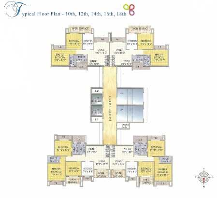 Reza Grandeur Floor Plan for 10th 12th 14th 16th 18th