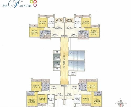 Reza Grandeur Floor Plan for 19th Floor