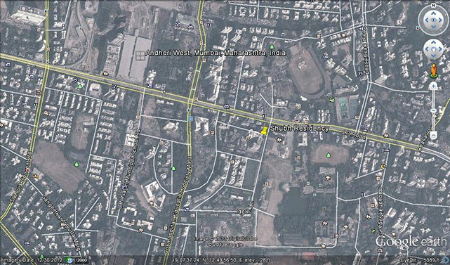 Shubh Residency Google Earth
