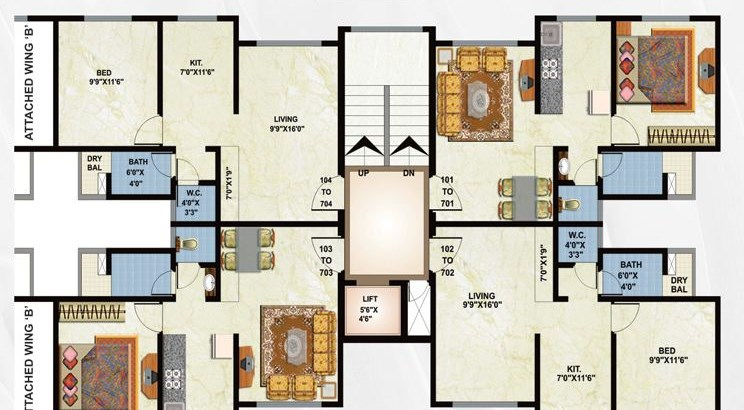 Rajhans Season Floor Plan