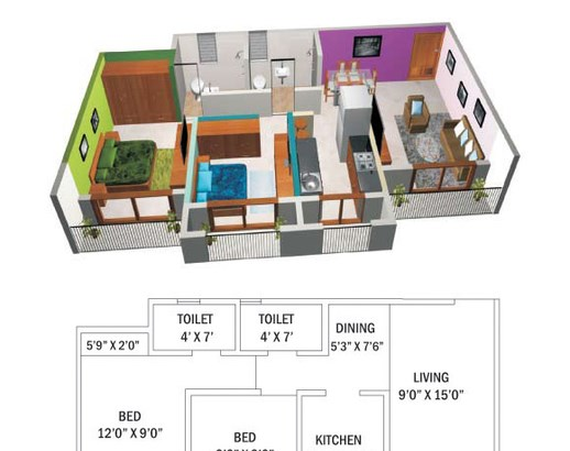 New Home Paradise Floor Plan
