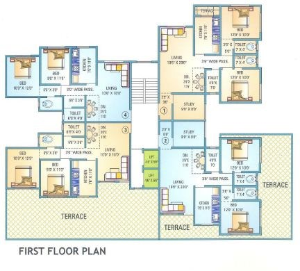Yadushree Complex Floor Plan