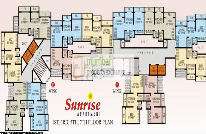 Sunrise Apartment Floor Plan