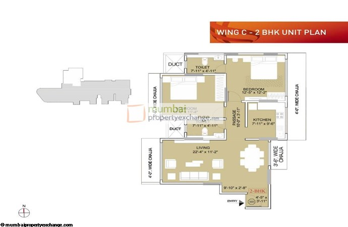 Ruparel Orion Ruparel Orion 2BHK Wing C