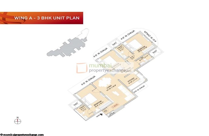 Ruparel Orion Ruparel Orion 3BHK Wing A