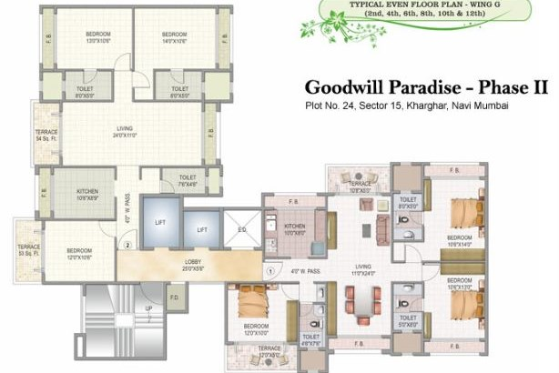 Goodwill Paradise Wing F and G Floor Plan