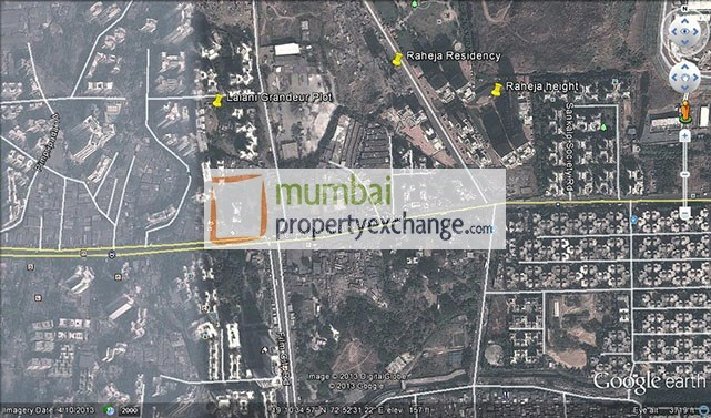 Raheja Residency  Google Earth
