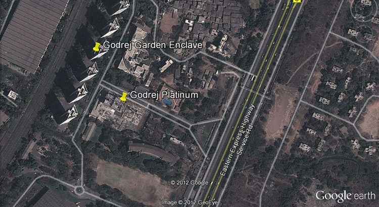Godrej Platinum Google Earth