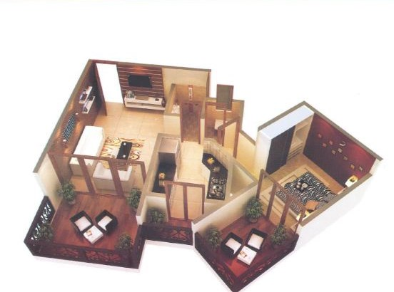 La Bellezza 1 BHK Floor Plan