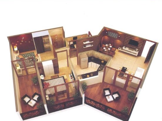 La Bellezza 2 BHK Floor Plan