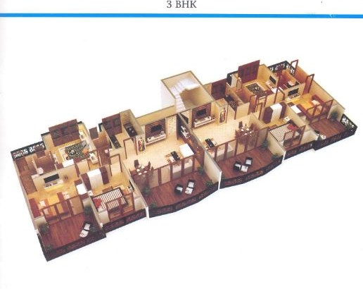 La Bellezza 3 BHK Floor Plan
