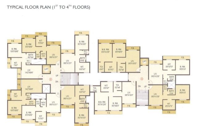 Orchid Residency Floor Plan