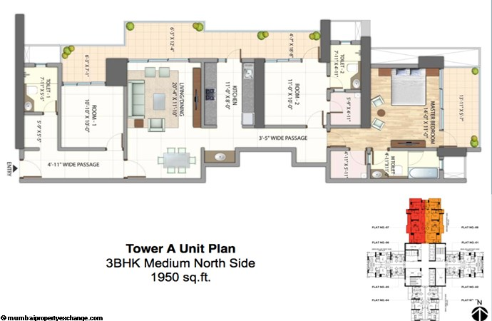 Alta Monte Tower A Floor Plan 3