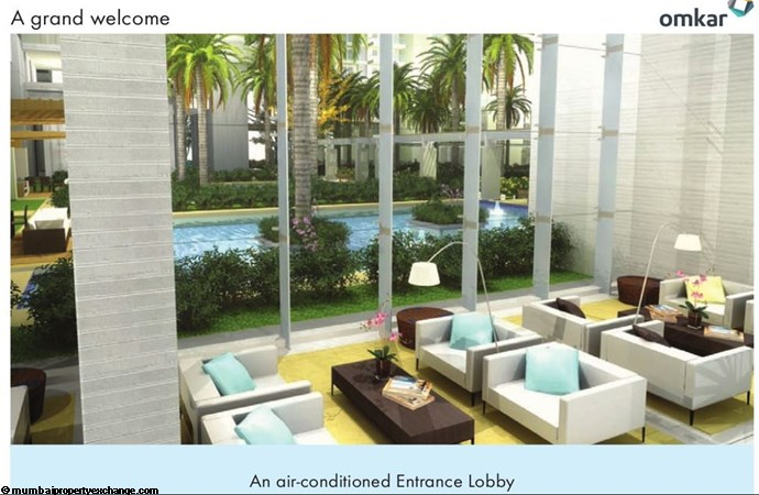 Alta Monte Tower D Omkar Alta Monte Air Conditioned Entrance Lobby