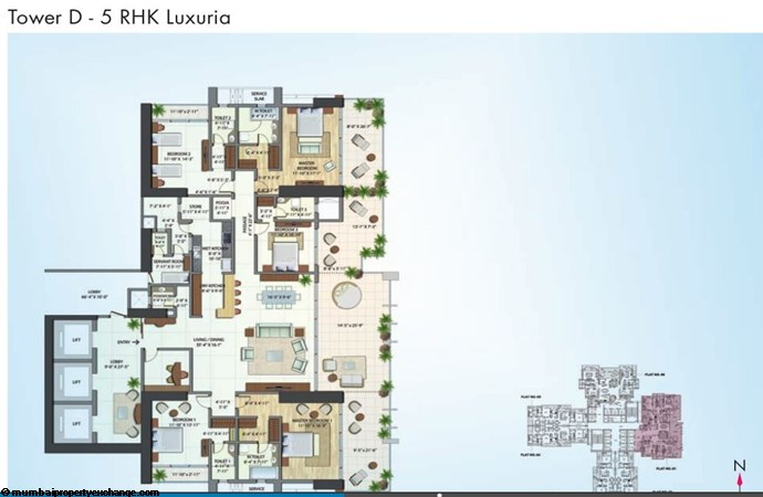 Alta Monte Tower D Omkar Alta Monte Tower D 5RHK Luxuria