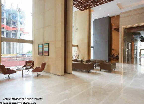 Alta Monte Tower D Omkar Alta Monte Triple Height Lobby