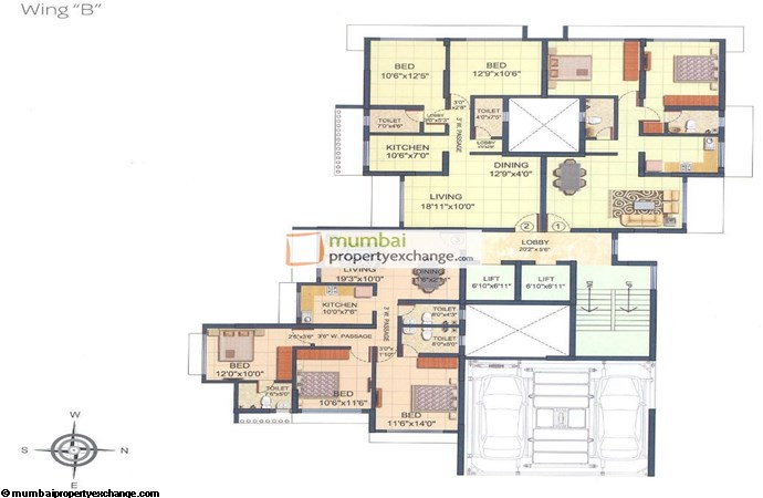 Romell Diva B Wing Floor Plan