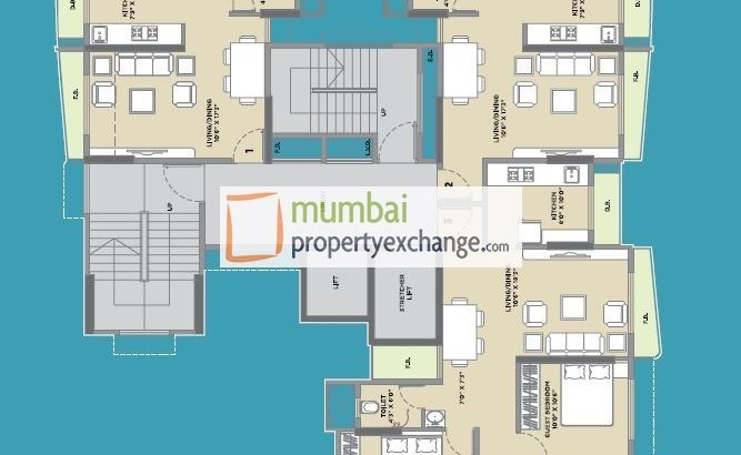 Vijay Residency Floor Plan Tower C