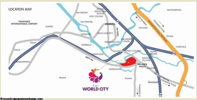 Sai World City - I Sai World City Location Conectivity