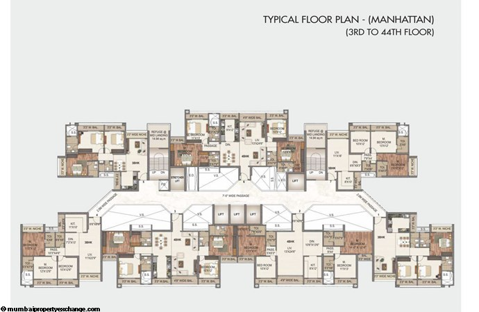 Sai World City - I Sai World City Typical Floor Plan -  Manhattan