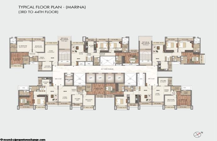 Sai World City - I Sai World City Typical Floor Plan -  Marina