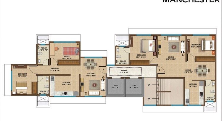 Manchester Heights Floor Plan
