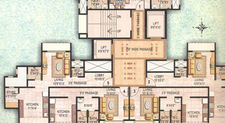 Ekta Meadows Floor Plan