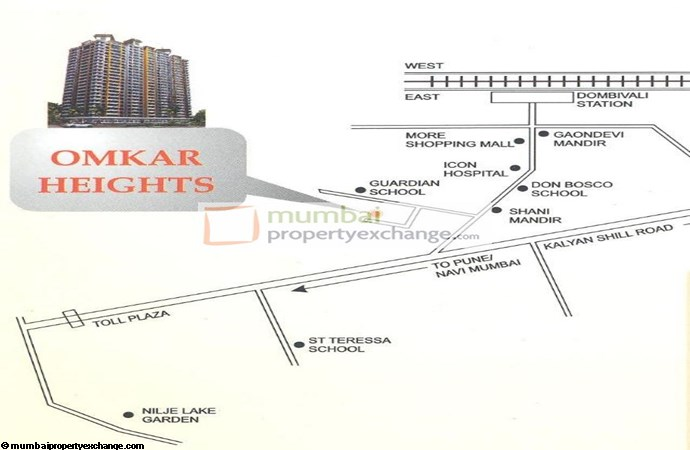 Omkar Heights Location