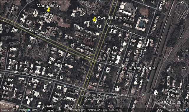 Swastik House Google Earth