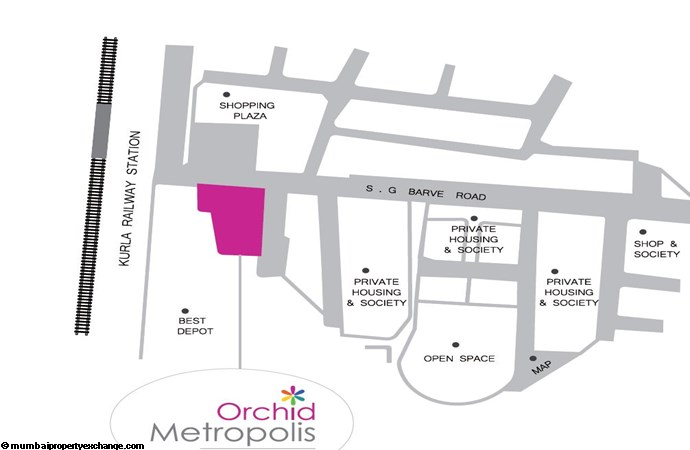 Orchid Metropolis Location Plan